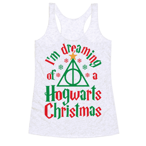 I'm Dreaming Of A Hogwarts Christmas Racerback Tank Top