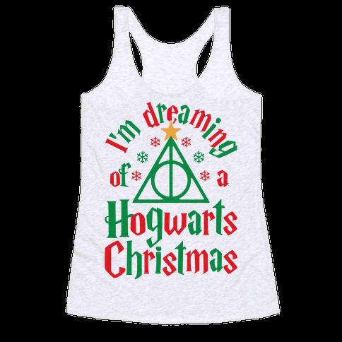 I'm Dreaming Of A Hogwarts Christmas Racerback Tank Top