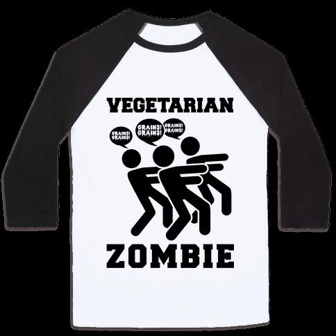 Vegetarian Zombie Baseball Tee