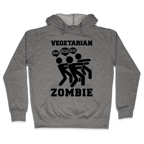 Vegetarian Zombie Hooded Sweatshirt