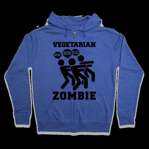 Vegetarian Zombie Zip Hoodie