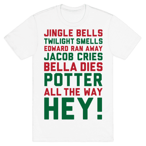 Jingle Bells Twilight Smells Mens T-Shirt