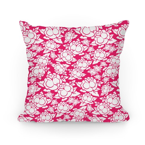 Pink Rose Pattern Pillow