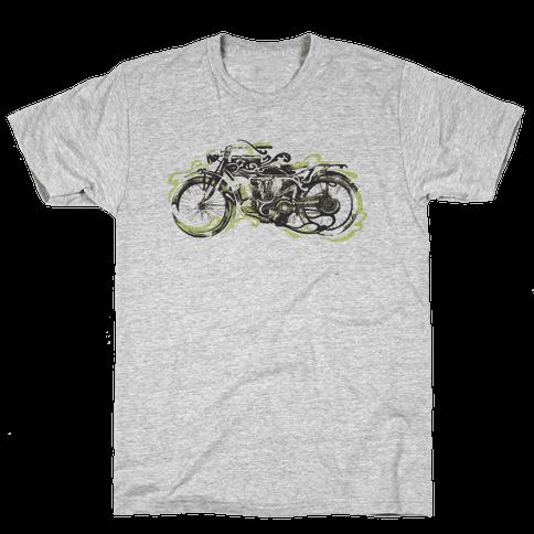 Vintage Motorbike Mens T-Shirt