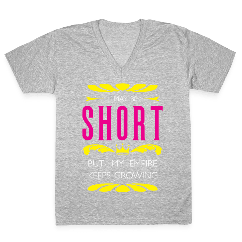 Short Girl Empire V-Neck Tee Shirt