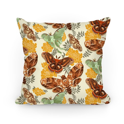 Moths & Marigolds Pillow
