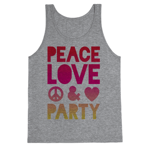 Peace Love & Party Tank Top