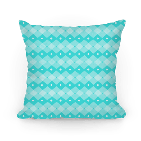 Teal Checkered Pattern