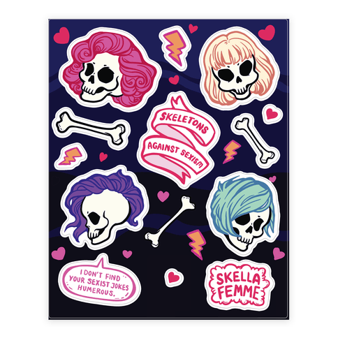 Spooky Scary Feminists Sticker/Decal Sheet