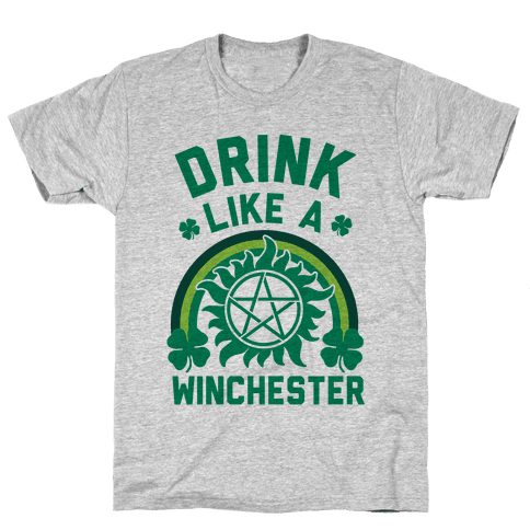 Drink Like A Winchester (St. Patrick's Day) Mens T-Shirt