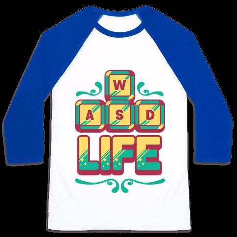 WASD Life Baseball Tee