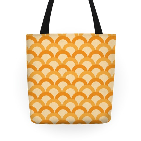 Orange Scale Pattern Tote