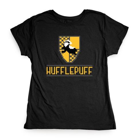 8 Bit Hufflepuff Womens T-Shirt