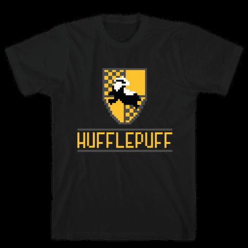 8 Bit Hufflepuff Mens T-Shirt