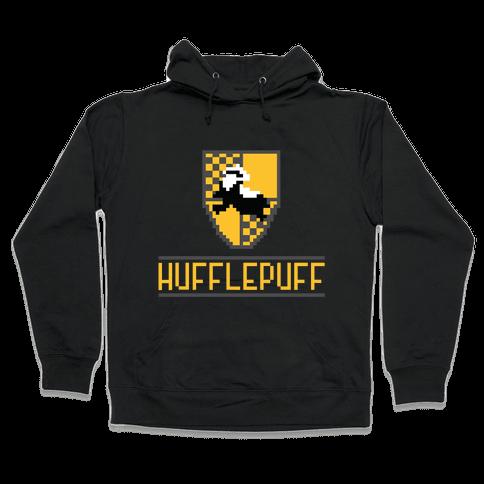 8 Bit Hufflepuff Hooded Sweatshirt