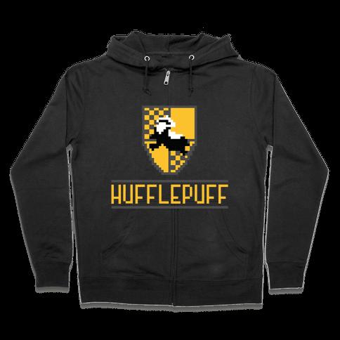 8 Bit Hufflepuff Zip Hoodie