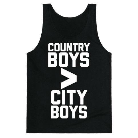 Country Boys > City Boys Tank Top