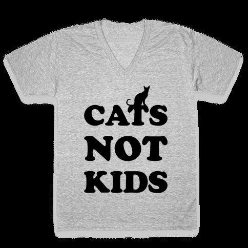 Cats Not Kids V-Neck Tee Shirt
