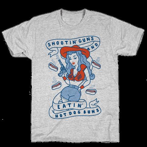 Buns And Guns Mens T-Shirt