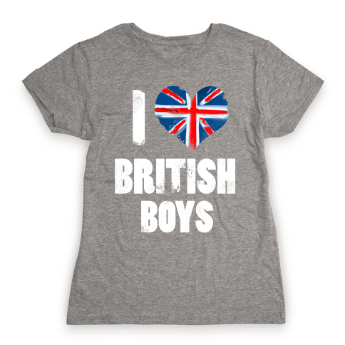 I (Heart) British Boys Womens T-Shirt