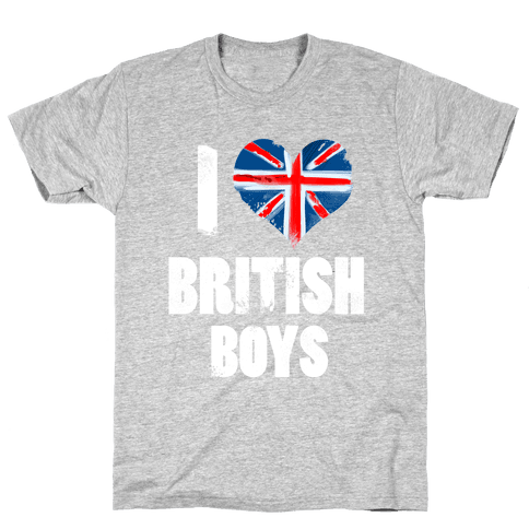 I (Heart) British Boys Mens T-Shirt