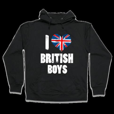 I (Heart) British Boys Hooded Sweatshirt