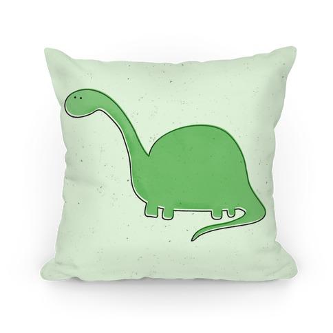 Cute Green Dinosaur Pillow