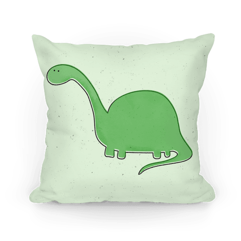 Cute Green Dinosaur Pillow