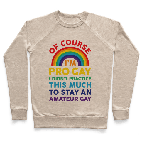 Of Course I'm Pro Gay Pullover