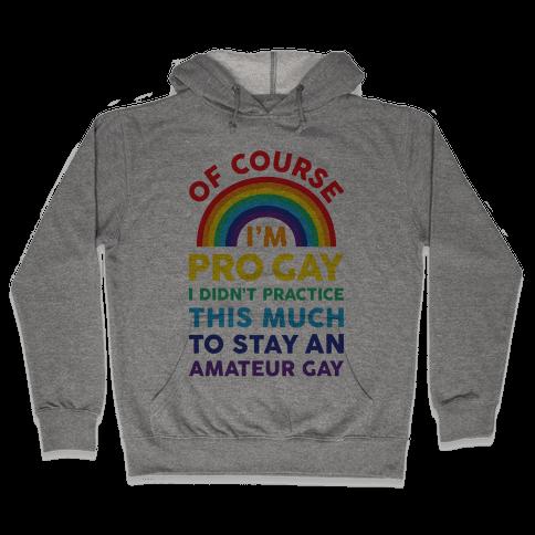 Of Course I'm Pro Gay Hooded Sweatshirt