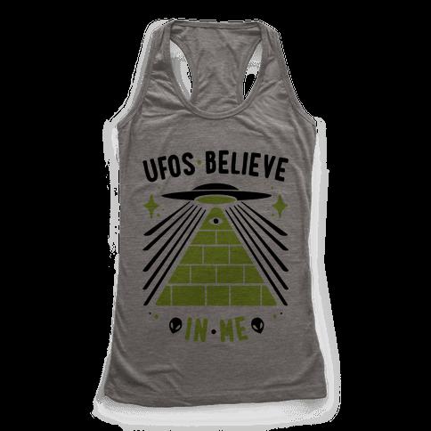 UFOS Believe In Me Racerback Tank Top