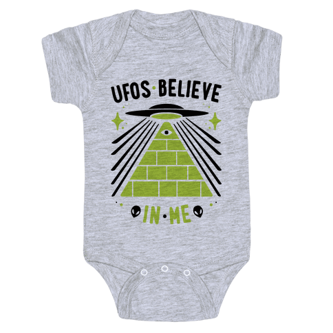 UFOS Believe In Me Baby Onesy
