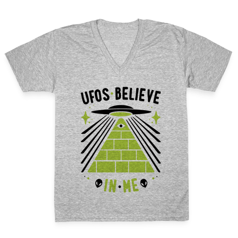 UFOS Believe In Me V-Neck Tee Shirt
