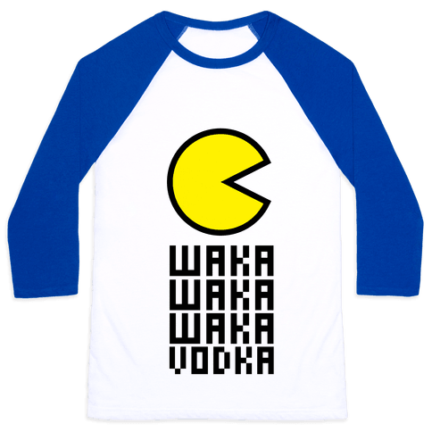 Vodka for Pacman Baseball Tee