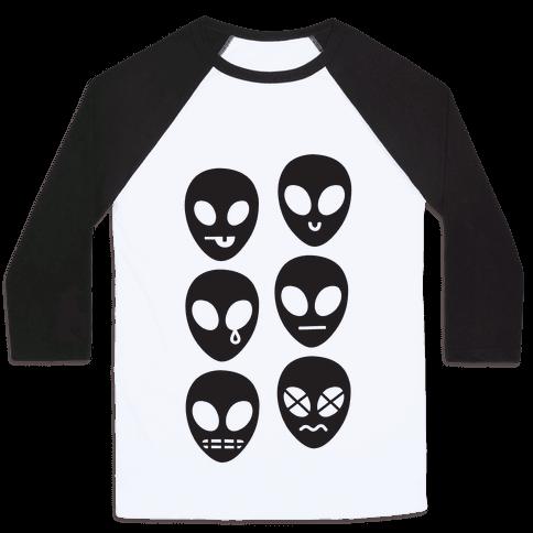 Alien Emojis Baseball Tee