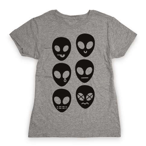 Alien Emojis Womens T-Shirt