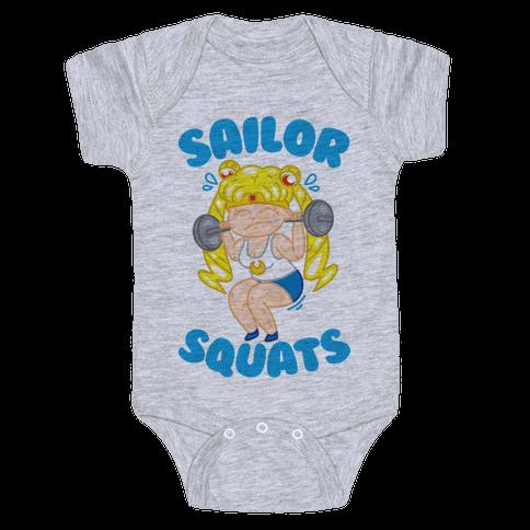 Sailor Squats Baby Onesy