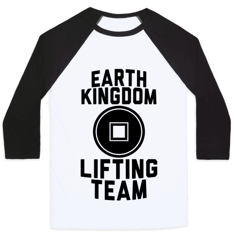 Earth Kingdom Lifting Team Baseball Tee