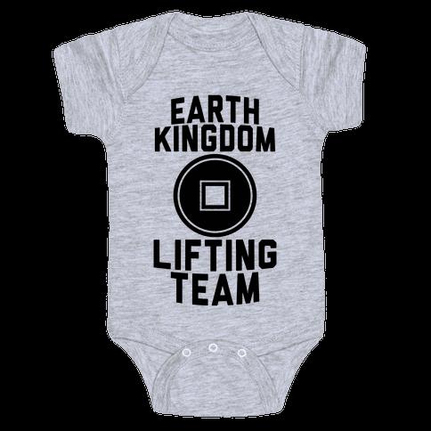 Earth Kingdom Lifting Team Baby Onesy