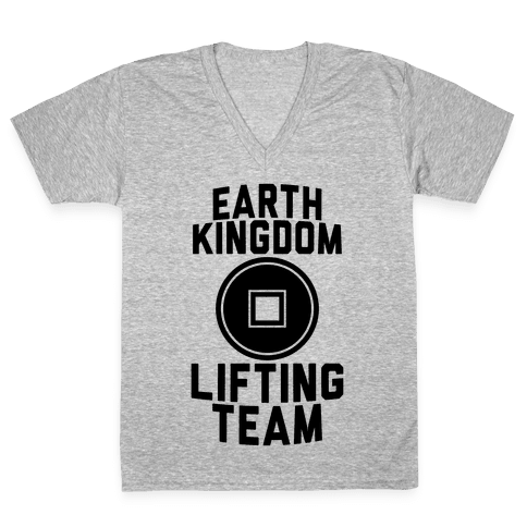 Earth Kingdom Lifting Team V-Neck Tee Shirt