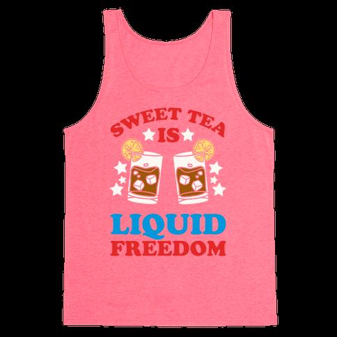 Sweet Tea Is Liquid Freedom Tank Top
