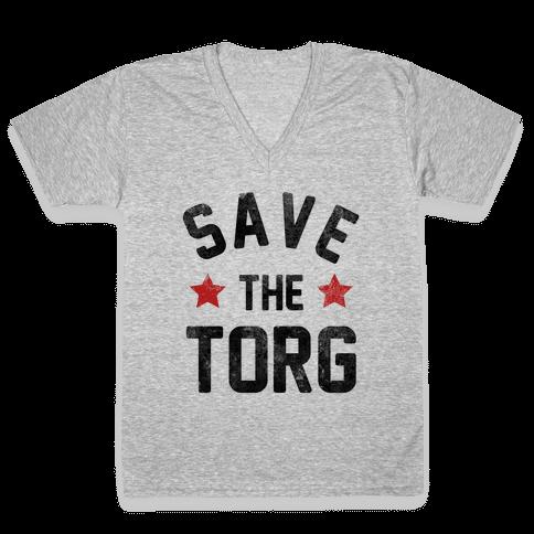 Save the Torg V-Neck Tee Shirt
