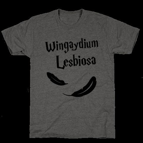 Wingaydium Lesbiosa Mens T-Shirt