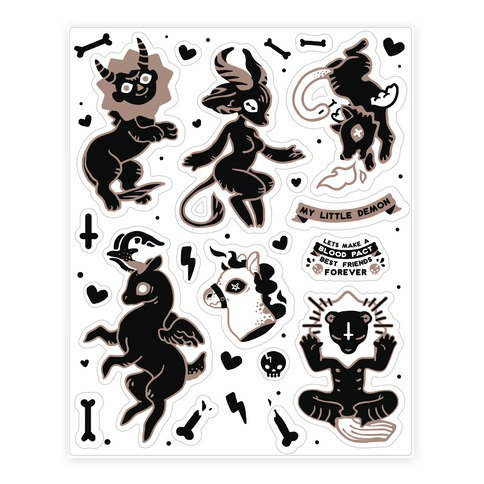 My Little Demon Sticker/Decal Sheet