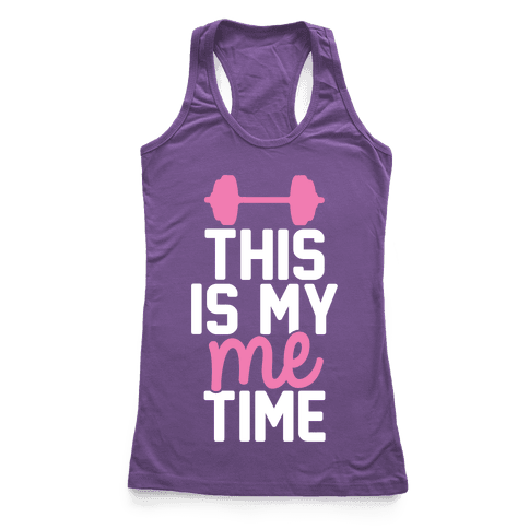 This Is My Me Time (Pink & White) Racerback Tank Top