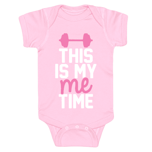 This Is My Me Time (Pink & White) Baby Onesy