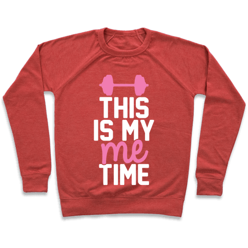 This Is My Me Time (Pink & White) Pullover