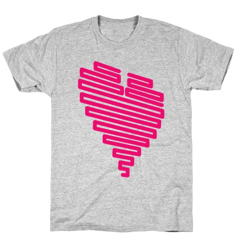 Neon Heart Mens T-Shirt