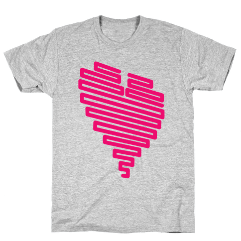 Neon Heart Mens T-Shirt