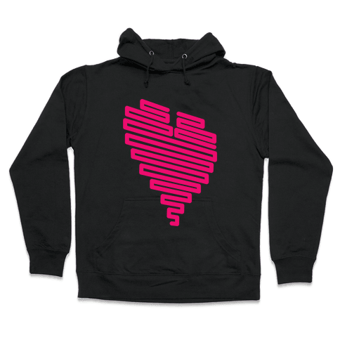 Neon Heart Hooded Sweatshirt